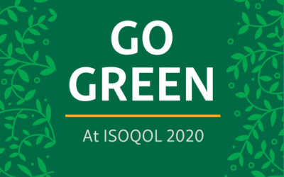 Support ISOQOL's Efforts to Go Green at the 2020 Annual Conference