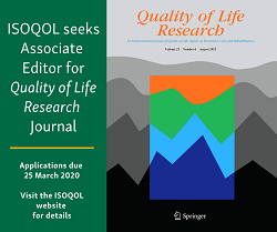 Call for Quality of Life Research Associate Editor