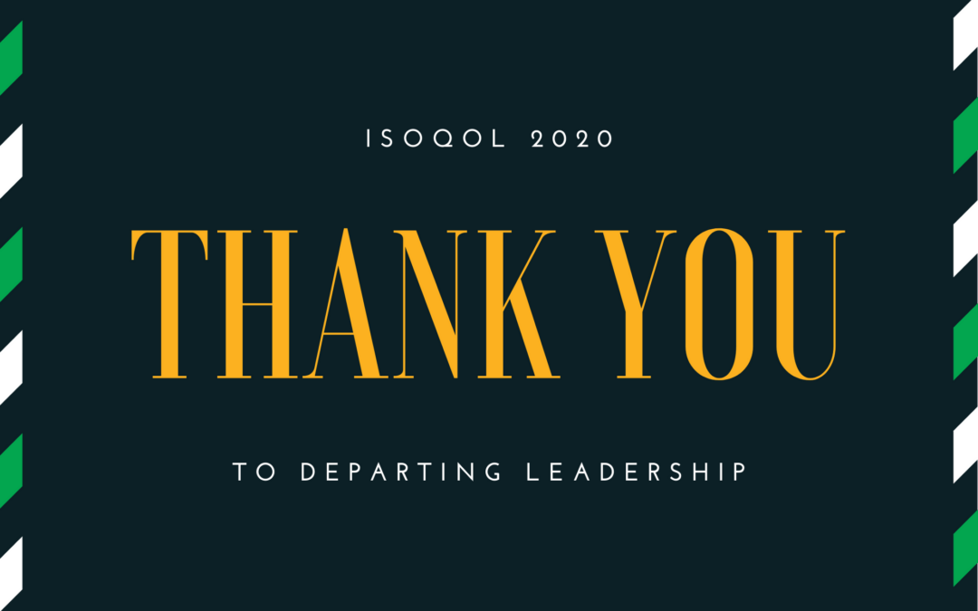 Thank You to Departing Leadership